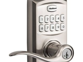 Kwikset 917TNl S Tustin Smartkey Single Cylinder Keypad Entry Door lever Set