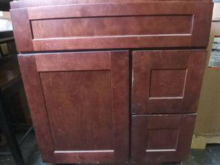 Oak Bathroom Vanity 22 W x 34 H x 29 5  l