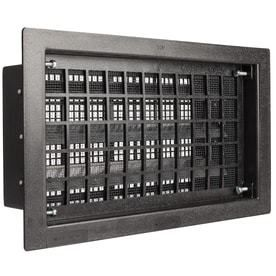 Gaf FVRABl Automatic Foundation Vent  57 sq in  HDPE  Black Oxide