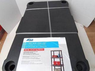 Plano 4 Tier Plastic Freestanding Shelving Unit Space Saver