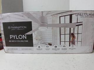 Pylon 48 inch ceiling fan matte white finishm