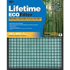WEB Washable Electrostatic Air Filter  Common  20 in x 20 in x 1 in  Actual  19 625 in x 19 625 in x 1 in