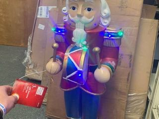 Home Accents Holiday 38 In  Christmas Nutcracker With led lights