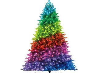 Home Decorators Collection 7 5 ft  Swiss Mountain Black Spruce Twinkly Rainbow Christmas Tree with 600 RGB lED Technology lights