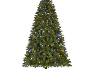 Home Accents Holiday 7 5 ft Wesley long Needle Pine lED Pre lit Artificial Christmas Tree with 550 Color Changing lights