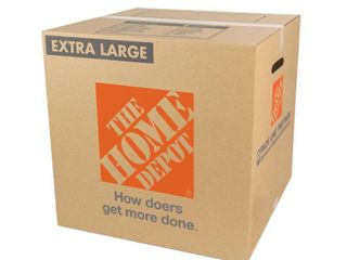 PACK OF 25 The Home Depot Extra large Moving Box  22 in  l x 22 in  W x 21 in  D