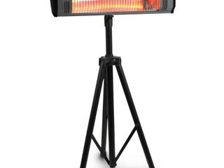 Heat Storm Tradesman 1 500 Watt Electric Outdoor Infrared Quartz Portable Space Heater with Tripod and Wall Ceiling Mount  Black