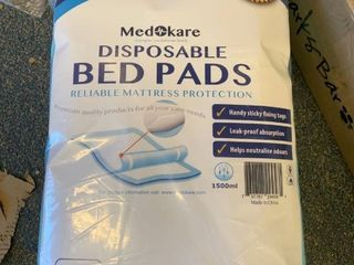 Medokare Disposable Incontinence Bed Pads   Hospital Grade 1500ml Super Absor