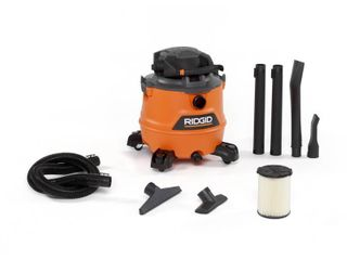 RIDGID 16 Gal  6 5 Peak HP NXT Wet Dry Shop Vacuum with Detachable Blower  Filter  Hose and Accessories  Oranges Peaches