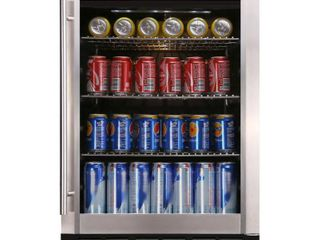 Magic Chef Beverage 23 4 in  154  12 oz  Can Beverage Cooler  Stainless Steel