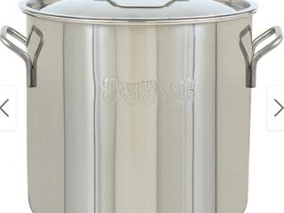 Bayou Classic Steel Bayou Stainless Brew Kettle  40 Quart