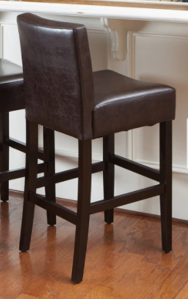 lopez 26  Brown leather Counter Stool