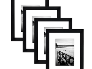 Americanflat 4 Pack 8x10 Black Picture Frames