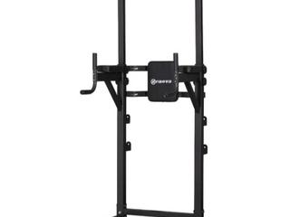 Zenova Adjustable Power Tower Pull Up Bar Strength Fitness  Retail 143 49