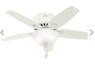 42  Newsome low Profile Ceiling Fan White   Hunter
