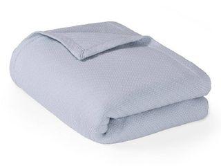 Bed Blanket liquid Cotton Full Queen light Blue
