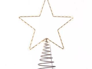 17 5  Kurt Adler Metal lighted lED Star Tree Topper