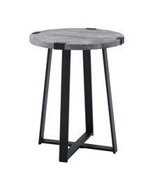 18  Metal Wrap Side Table   Dark Concrete