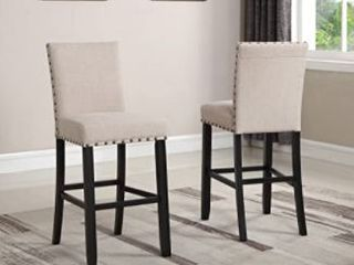 Round Hill Furniture Pub Chair Set of Two