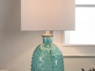Porch And Den McKenzie Bright Blue Texture lamp