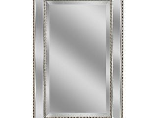 Headwest Metro Beaded Wall Mirror   Silver Champagne   20x 32   Retail 107 99
