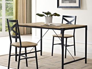 Carbon loft Edelman 48 inch Angle Iron Dining Table   Barnwood  Retail 148 49 Chairs NOT Included