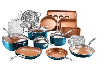 Gotham Steel 20 Piece Non Stick Ti Ceramic Complete Cookware   Bakeware Set Retail  199 99
