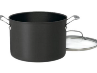 Cuisinart Chef s Classic Nonstick Hard Anodized 8 Quart Stockpot with lid Black
