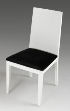 Bridget Dining Chair White Croco Fabric