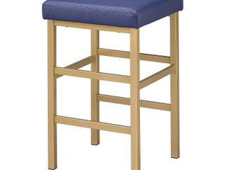 26  Gold Backless Counter Height Barstool Blue   OSP Home Furnishings