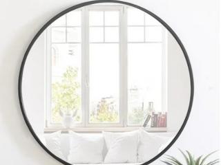 Carson Carrington labbemala Metal Frame Round Mirror  Retail 219 99
