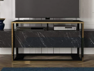 Bianco TV Stand Black Marble  Retail 203 99