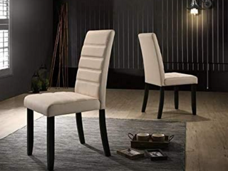 Pair of Hommex Furniture Pardon Chairs with Cream linen