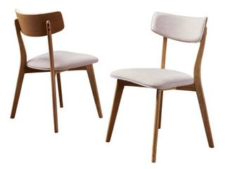 Chazz Mid century Dining Chairs by Christopher Knight Home  Set of 2  Retail 146 99