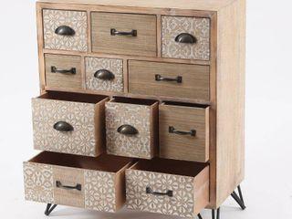 Metal and Wood Multi Storage Cabinet