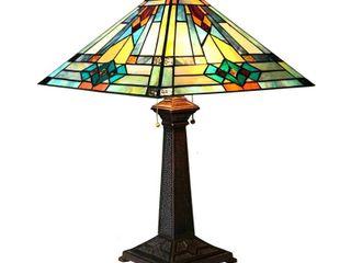 CHlOE lighting MASON Mission 2 light Antique Dark Bronze Table lamp 16  Shade
