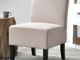 Porch   Den lamar Fabric  Wood Armless Slipper Chair Retail 96 99