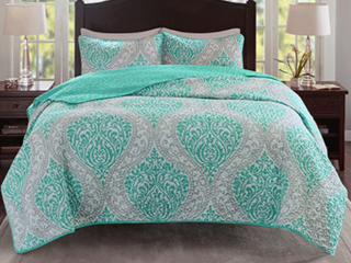 Comfort Spaces Coco 2 Piece Quilt Coverlet Bedspread Ultra Soft Twin Size