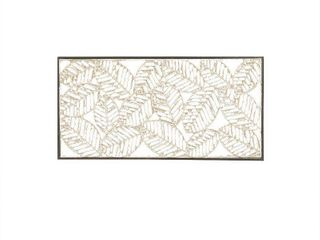 Madison Park Paper Cloaked leaves Natural Paper Cloaked Wall Decor Metal Frame  Retail 79 98