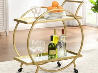 FirsTime   Co  Odessa Bar Cart  Metal  28 x 14 x 32 in  American Designed   28 x 14 x 32 in  Retail 138 49