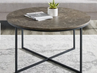 Silver Orchid Helbling 36 inch Round Coffee Table  Retail 163 99