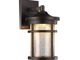 CHlOE lighting FRONTIER Transitional lED Rubbed Bronze Outdoor Wall Sconce 11  Height
