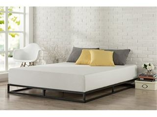 Zinus Modern Studio 6 Inch Platforma low Profile Bed Frame  Mattress Foundation  Boxspring Optional  Wood slat support  Queen