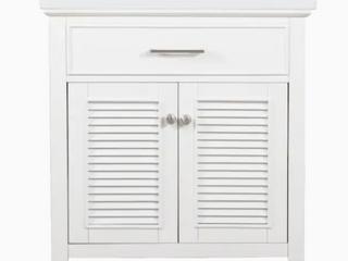 Design Element Cameron 30  Single Sink Vanity In White   Retail 279 30