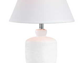 Ceramic Table lamp with White Canvas Shade  15 25