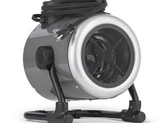 NewAir Portable 120v Electric Garage Heater  170 sq  ft with Adjustable Tilt Head  Perfect for Garages   Workshops   Gray