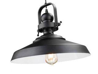 11 5  Macha Industrial Bell Pendant lamp   Matte Black   Aiden lane