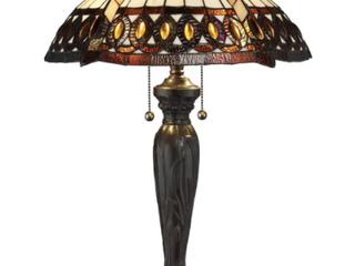 Tiffany style Amberjack Table lamp  Retail 112 59