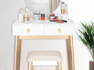 Bedroom light luxury Real Wood Dressing Table Simple Makeup Table   Retail 227 99