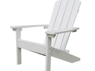 lakeside Faux Wood Adirondack Chair White Retail 149 99